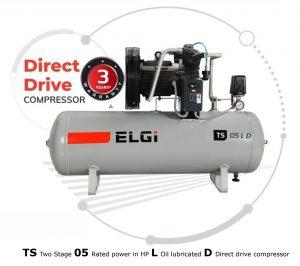 ELGi Direct Drive Compressor Dealer - ELGi TS 05 LD Piston Air Compressor